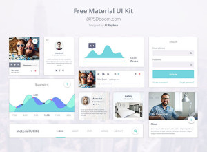 Free-Material-Design-Ui-Kit-Design