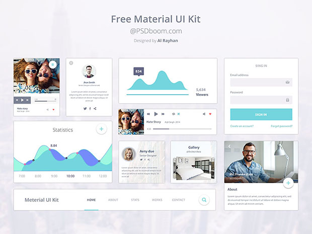 Free-Material-Design-Ui-Kit-Design