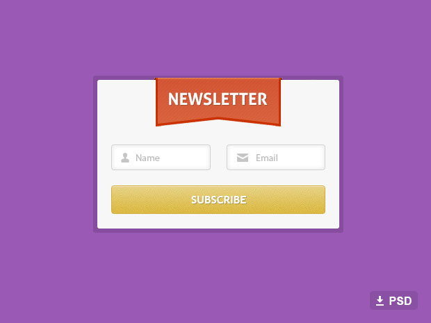 Free-Newsletter-Form-Psd