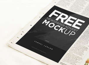 Free-Newspaper-Advert-Mockup