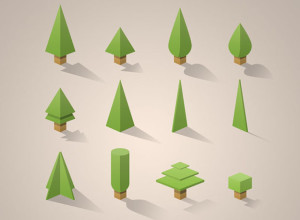 Free-PSD-12-mini-trees-pack