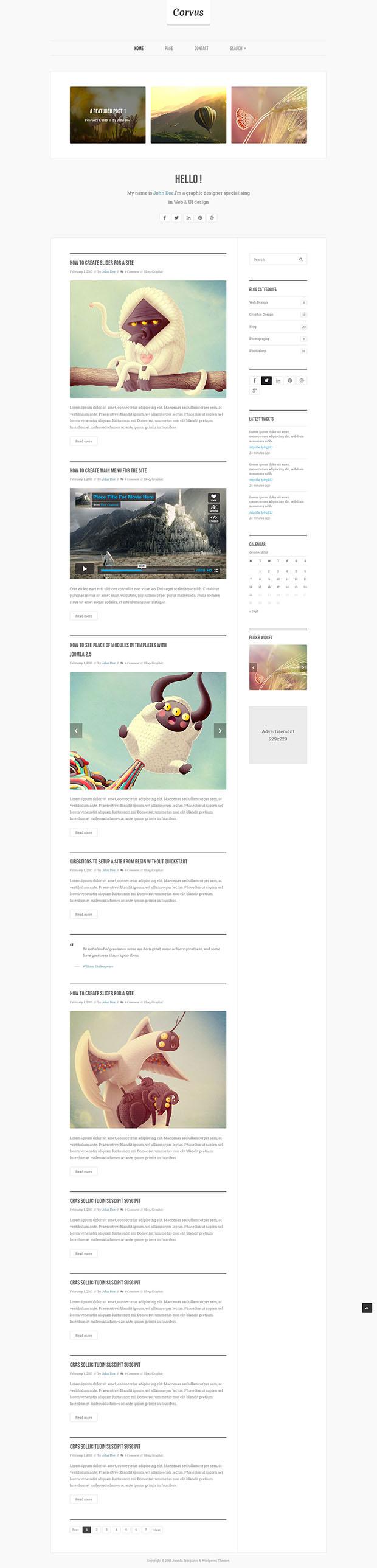 Free-PSD-Blog-Template