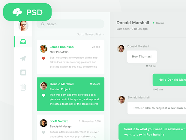 free-psd-direct-messaging