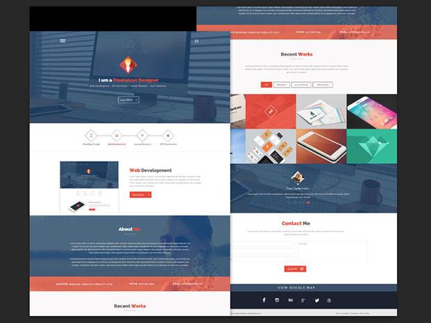 Free-PSD-Flat-style-Web-Design