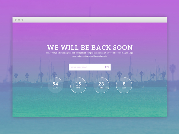 Free-PSD-HTML5-Coming-Soon-Template