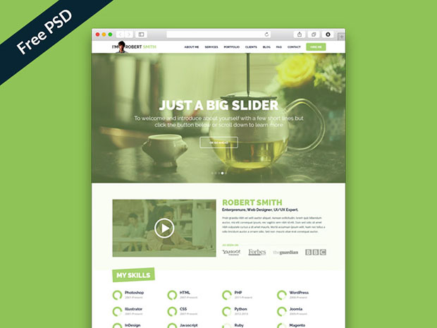 Free-PSD-IMX-One-Page-Resume-Website