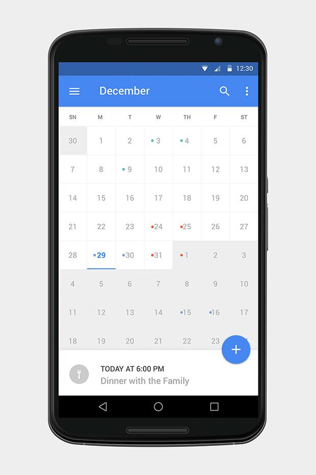 Free-PSD-Material-Calendar-UI