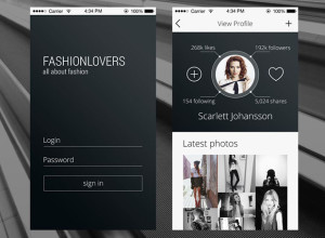 Free-PSD-Profile-page-for-an-iPhone-App