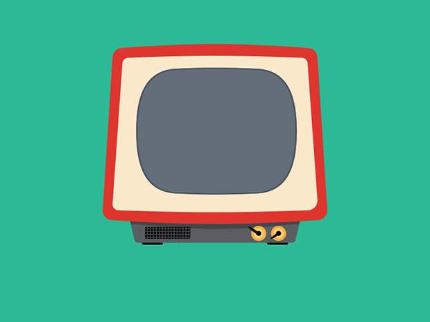 Free-PSD-Tv-Illustration