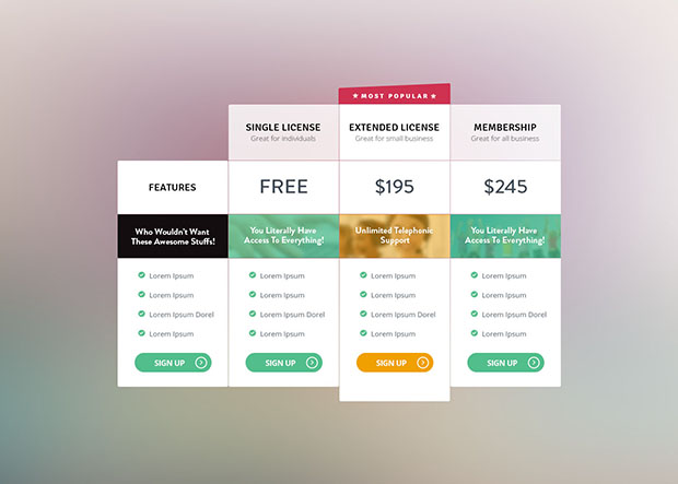 Free-Pricing-Table