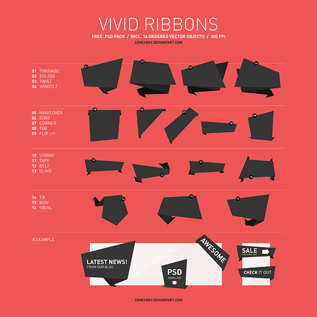 Free-Vivid-Vector-Ribbon-Pack