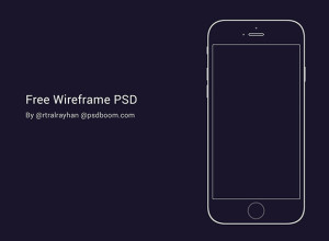 Free-iPhone-6-black-&-white-Wireframe