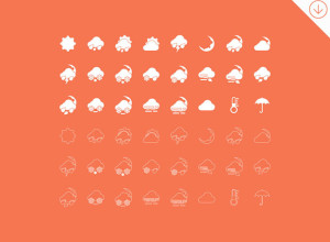 Freebie-48-Simple-Weather-Icons