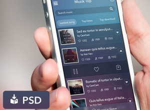 Freebie-App-Music-UI-PSD