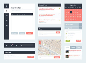 Freebie-Flat-UI-Kit-Blog