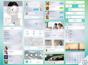 Freebie-Line-Flat-Mobile-Ui-Kit