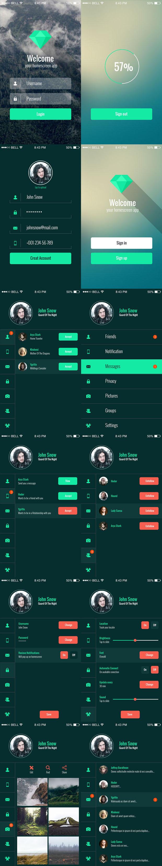Freebie-Mobile-App-UI-Kit