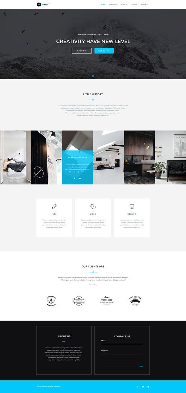 Freebie-Modus-Portfolio-PSD-Template