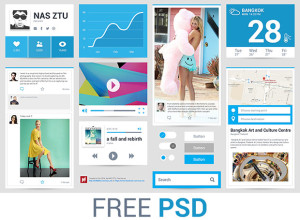 Freebie-PSD-Flat-Ui-with-Blue-color-theme