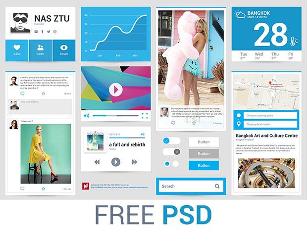 Freebie-PSD-Flat-Ui-with-Blue-color-theme