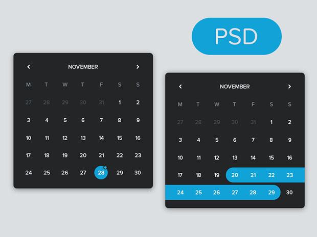 Freebie-PSD-Free-Flat-Calendar