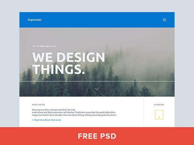 Freebie-PSD-Landing-page