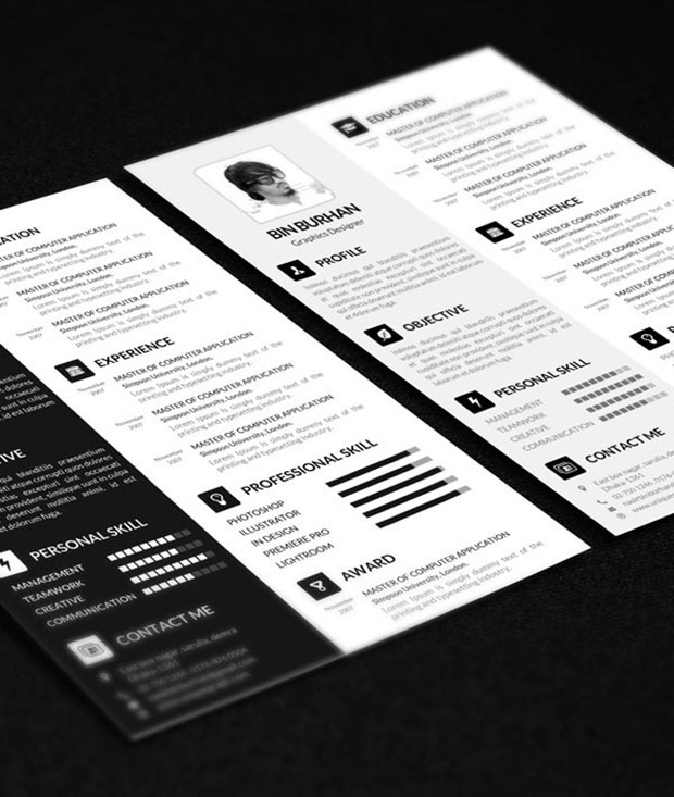 Freebie-Resume-template-with-CV