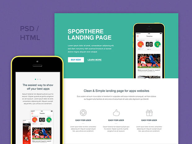 Freebie-SportHere-Template