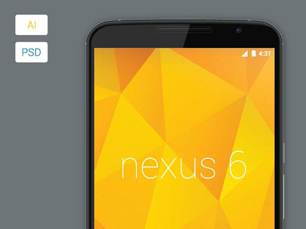 Freebie-Vector-Nexus-6-Model-Mockup