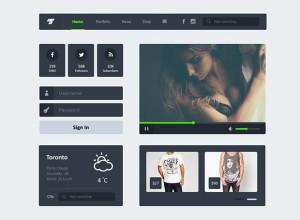 Freebie-Widgets-PSD-Flat-UI-Kit