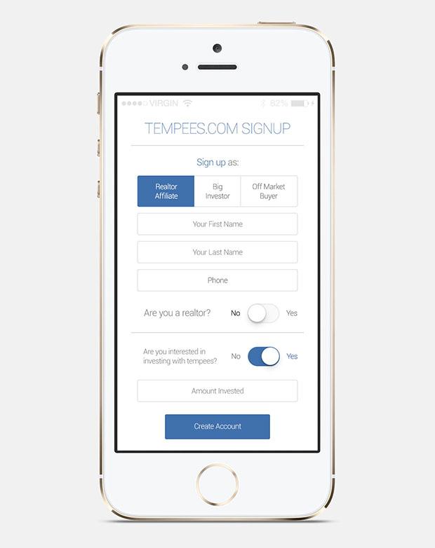 Freebie-iOS-app-signup