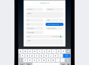 Freebie-iPad-Contact-Form