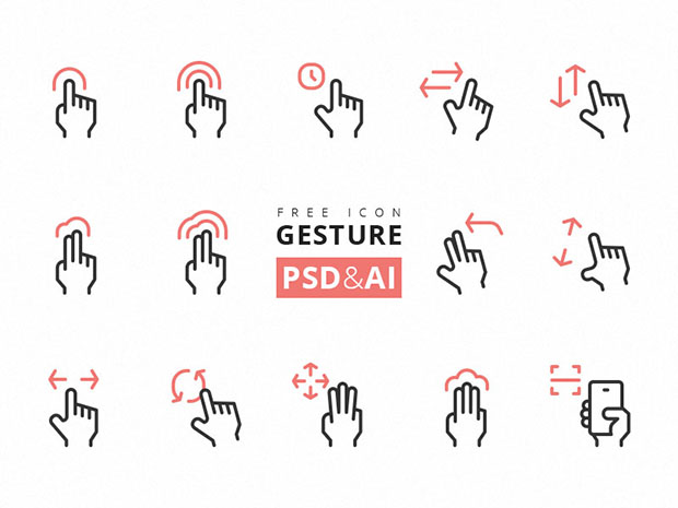 Gesture-Icon-Freebie