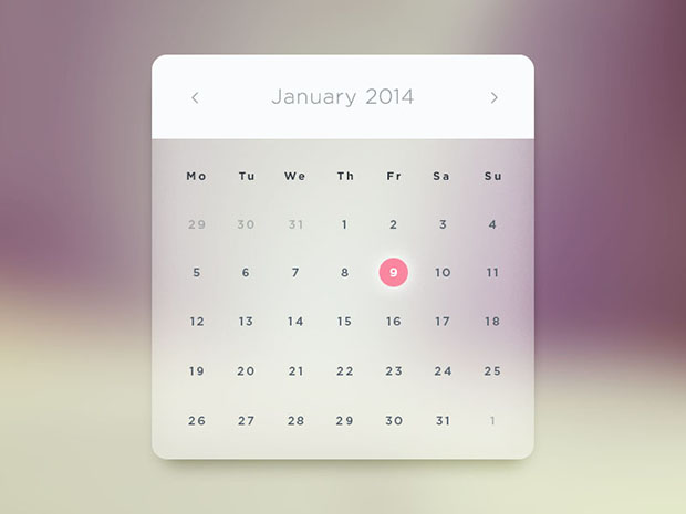 Glass-Calendar