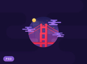 Golden-Gate-Night-PSD