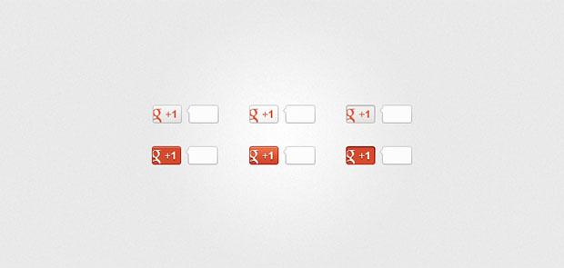 Google-1-Buttons-PSD