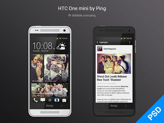 HTC-One-Mini-PSD