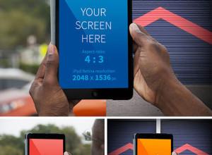 Hands-holding-iPad-realistic-mockup