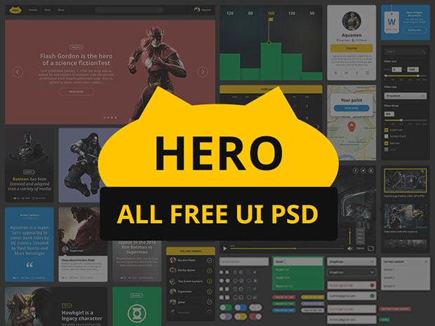 Hero-free-ui-kit-PSD