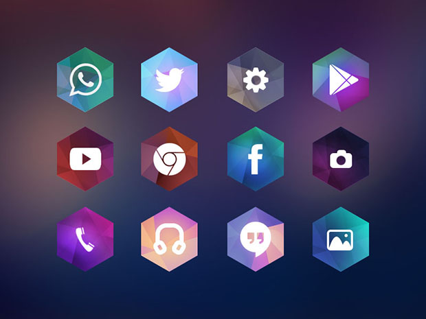 Hexagon-Android-Icon-Theme