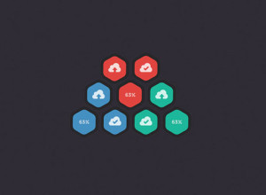 Hexagonal-Upload-Buttons