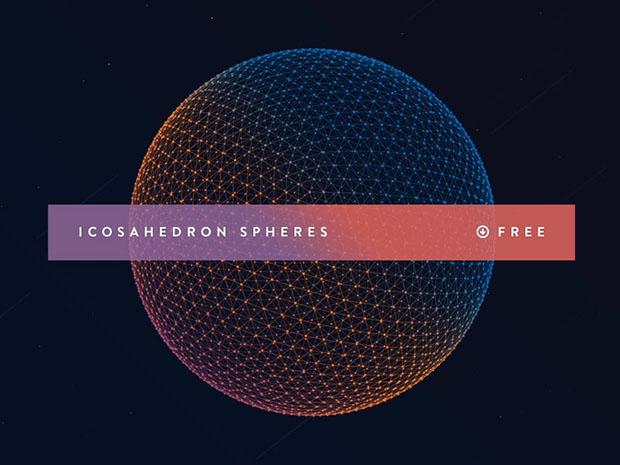 Icosahedron-Spheres-PSD