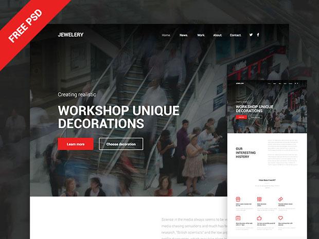 Jewelery-site-PSD-template