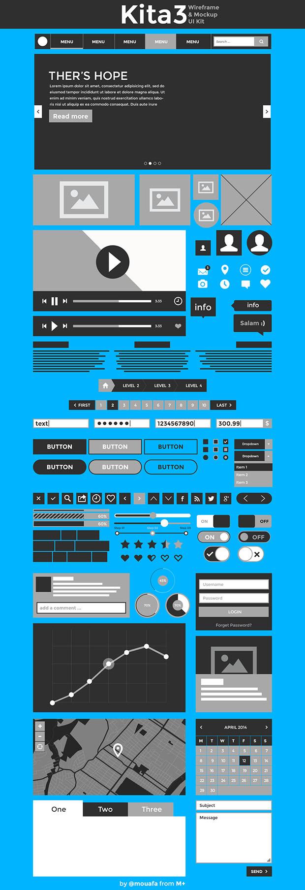 Kita3-Wireframe-&-Mockup-UI-kit