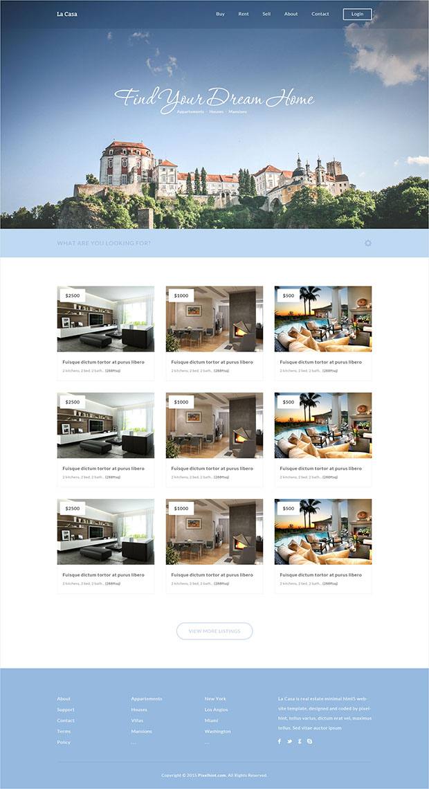 La-Casa-Free-Real-Estate-Responsive-Template