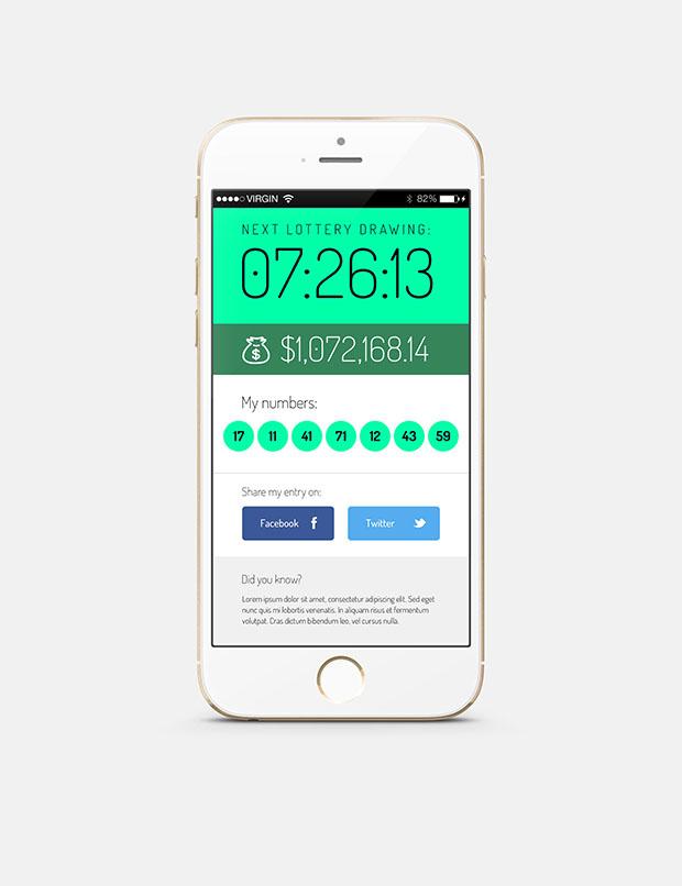 Lottery-app-iOS-screen