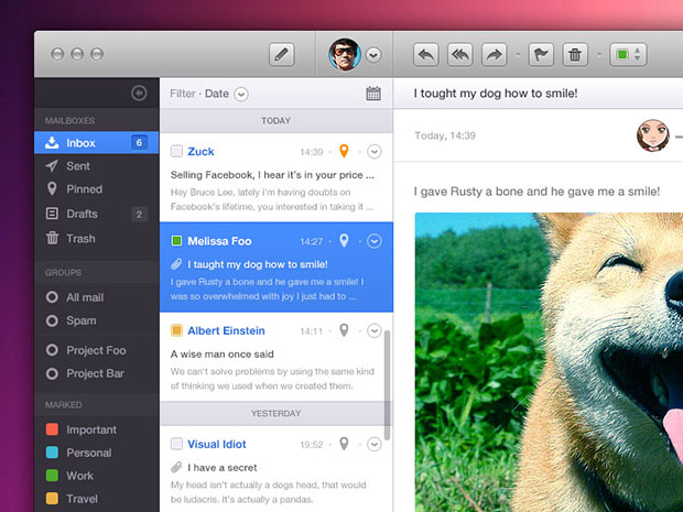 Mail-App-PSD-Included