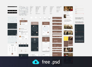Material-Design-UI-Kit-freebie