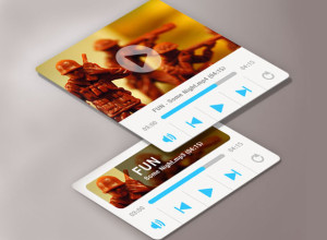 Media-Player-Widget-Template