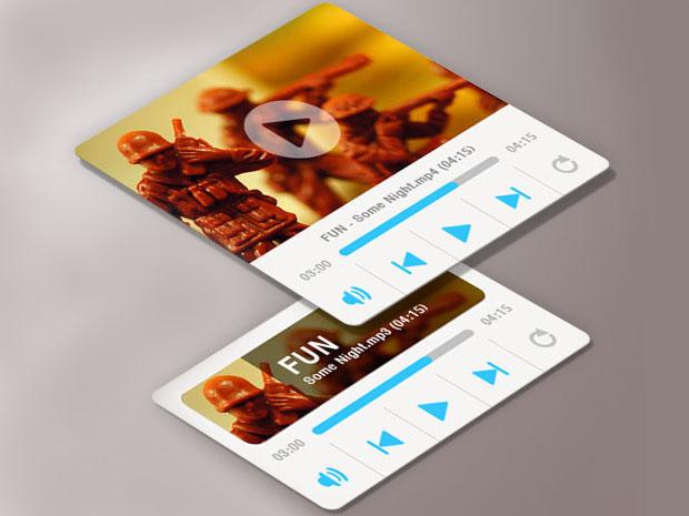 Media-Player-Widget-Template